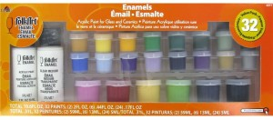 Folk Art Enamel Acrylic Paint for Glass and Ceramics