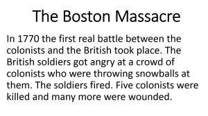 1 - Boston Massacre