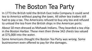 2 The Boston Tea Party