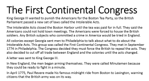 3 - First Continental Congress