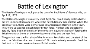 4 - Battle of Lexington