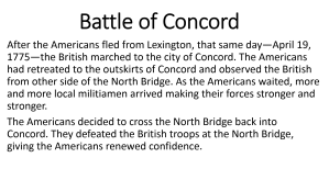 5 - Battle of Concord