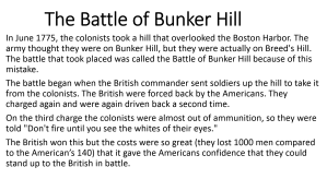 6 - The Battle of Bunker Hill