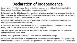 7 - Declaration of Independence